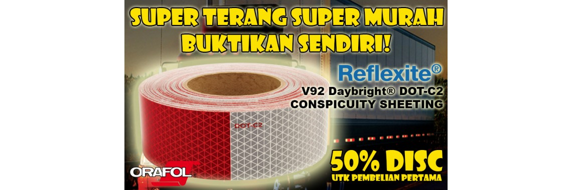REFLEXITE V92 DAYBRIGHT DOT-C2 CONSPICUITY SHEETING